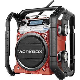 パーフェクトプロワークボックスワークプレイスラジオFM、AM AUX、ブルートゥース、NFC耐衝撃性、防爆、防塵赤