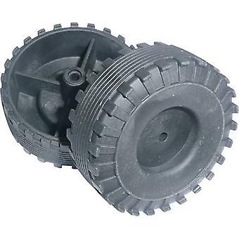 Material de treinamento Reely Workplace - Pneu plástico (Ø) 44 mm Diâmetro do furo 2,6 mm