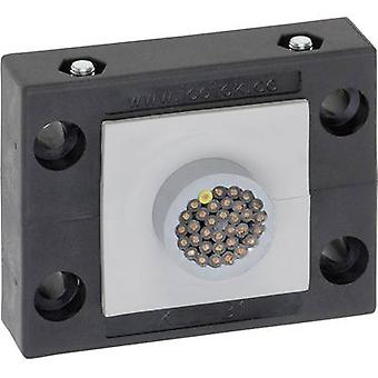 Icotek KEL-B1 kaapeli reitittimen Terminal Ø (max.) 35 mm polyamidi musta 1 PCs()