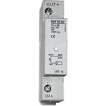 ESKA 1038003 حامل الصمامات بما في ذلك مؤشر حالة مناسبة لفتيل الكهروضوئية 20 A 1000 V DC 1 pc (ق)
