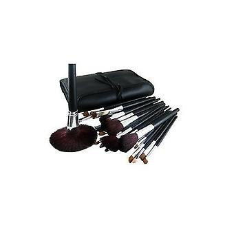 34 Pcs Luxury Professional Cosmetic Make Up Brush Kit Set Bag