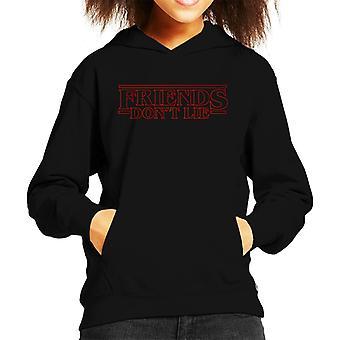 Vänner Dont lögn elva citerar konstigare saker Kid's Hooded Sweatshirt