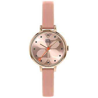 Orla Kiely | Ladies Ivy | Pink Dial | Pink Leather Strap | OK2252 Watch