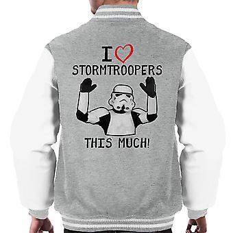 Original Stormtrooper I Love Troopers This Much Men's Varsity Jacket