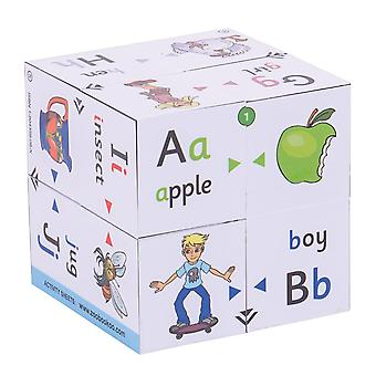 ZooBooKoo Educational Alphabet First Phonics and Colour Matching Cubebook