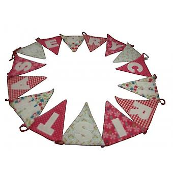 Gisela Graham Vintage god jul tyg Bunting