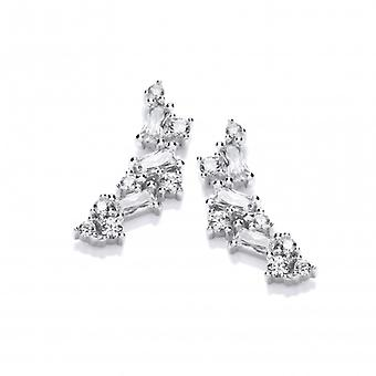 Cavendish French Silver & Cubic Zirconia Mosaic Earrings