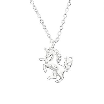 Unicorn - 925 Sterling Silver Plain Necklaces - W32222X