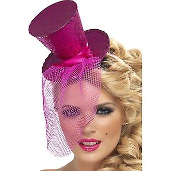 Fever Mini Top Hat on Headband, One Size