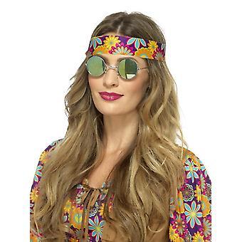 Hippie Specs, Mirrored, Green & Blue