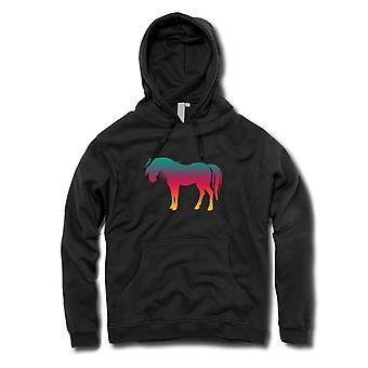 Kinder-Hoodie - Rainbow Design Pferd Psychedelic