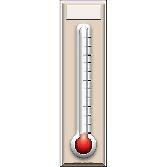 Varainhankinta lämpömittari - Lifesize pahvi automaattikatkaisin / seisoja