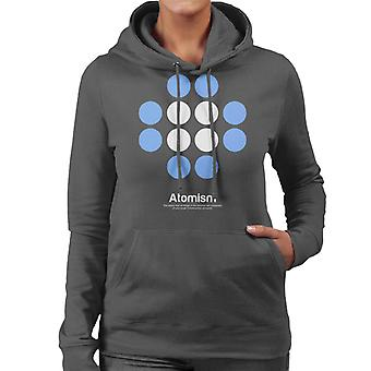 Atomism Philosophy Symbol Women's Hooded Sweatshirt