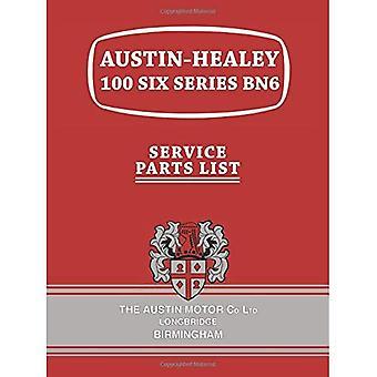 Austin-Healey 100 zes serie BN6 onderdelenlijst
