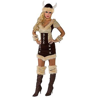 Costume adulte princesse viking