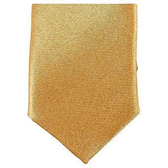 Knightsbridge Neckwear Skinny Polyester Tie - Light Gold