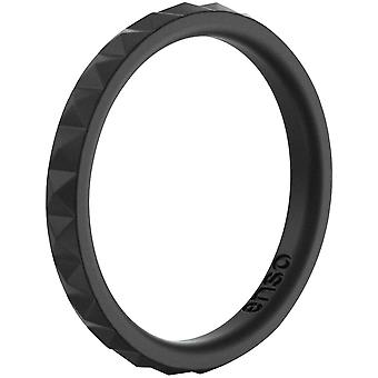 Enso Rings Pyramid Stackables Series Silicone Ring - Obsidian