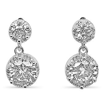 Ah! Jewellery Double Round Drop Crystals From Swarovski Earrings
