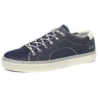 Route 21 M777C 6 Eye Navy Mens Casual Lace Up Shoes