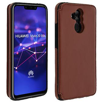 Huawei Mate 20 lite Shockproof Case, Card Holder Wallet, Forcell, Brown