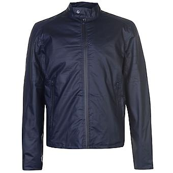 Mens jacket crosshatch agostini  gents nylon coat top full length sleeve