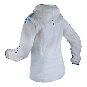 Raidlight Hyperlight Mp+ Womens Waterproof Breathable Jacket White/electric Blue