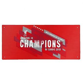 Liverpool Champions Of Europe Street Sign
