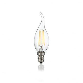 Ideale Lux Light Bulb Classic E14 4W Colpo Di Vento Trasp 3000K