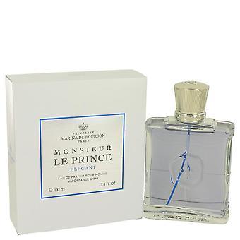 Monsieur le prince elegant eau de parfum spray by marina de bourbon 536775 100 ml