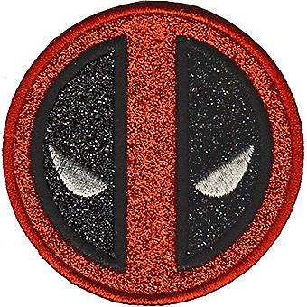 Patch - Marvel - Deadpool - Icon Logo Glitter Iron-On p-mvl-0070-g