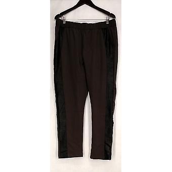 Nancy O'Dell Pants Elastic Waist w/ Metallic Side Inset Gray Womens A421150