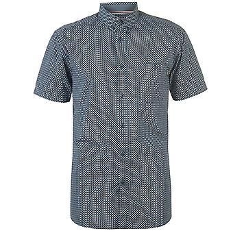 Pierre Cardin Mens Short Sleeve Geometric Shirt Top