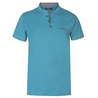 Pierre Cardin Homme Mock Y Neck T-Shirt T-Shirt T-Shirt Top