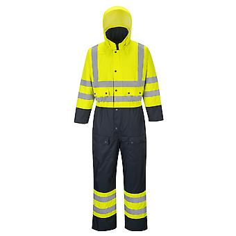 Portwest Hi-vis contrast coverall-lined s485