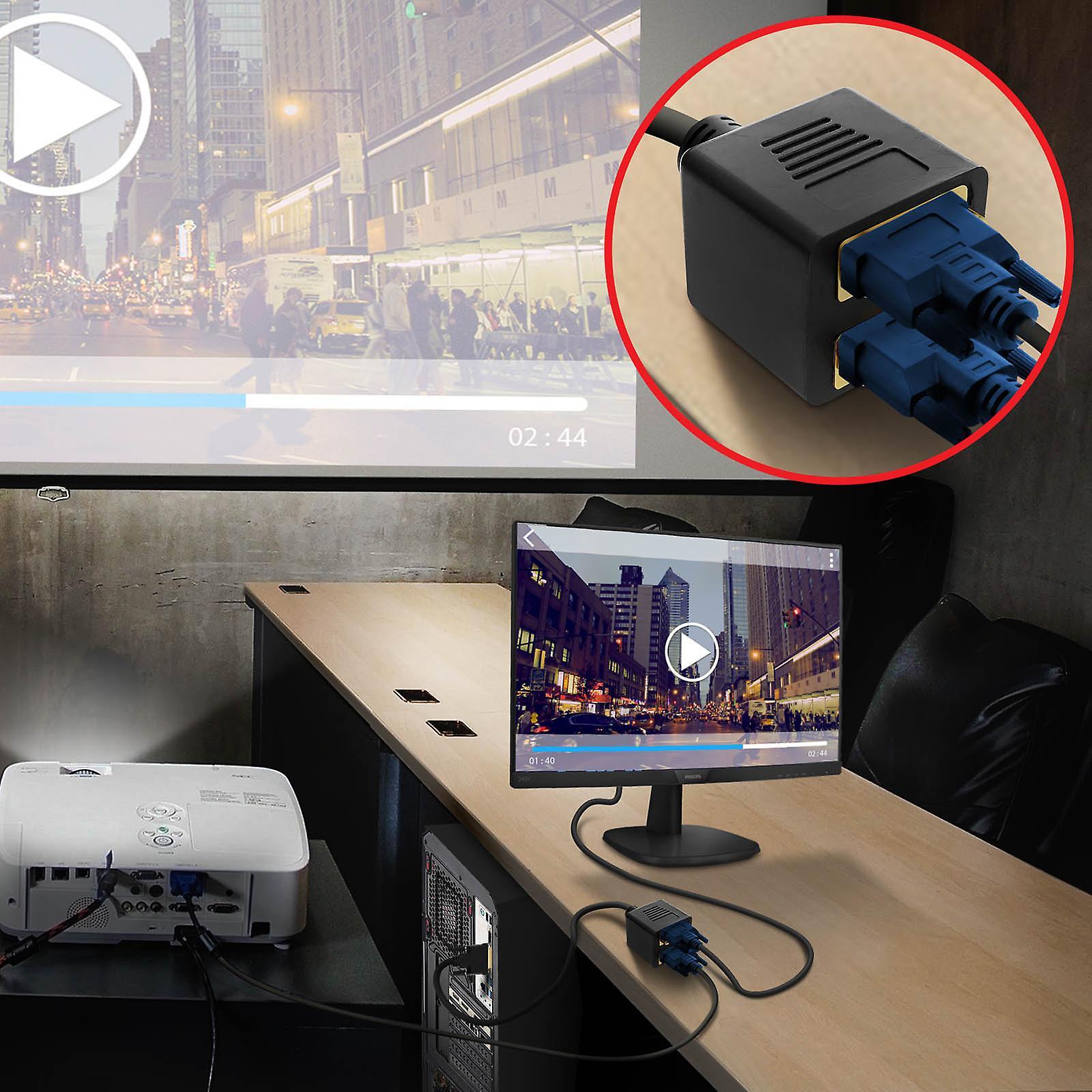 DVI-I male to VGA Female and DVI-I female adapter 33cm DVi-VDVi LinQ Black