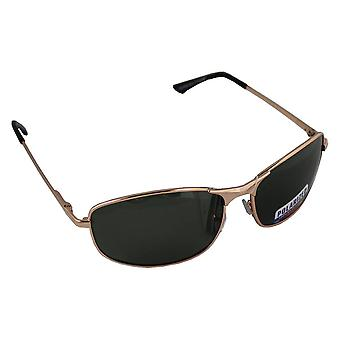 Men's Sunglasses Polaroid Rectangular - Gold/Green with free brillenkokerS304_5