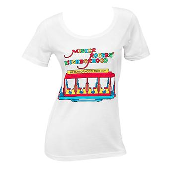 Mister Rodgers wijk Trolley Women's T-shirt wit