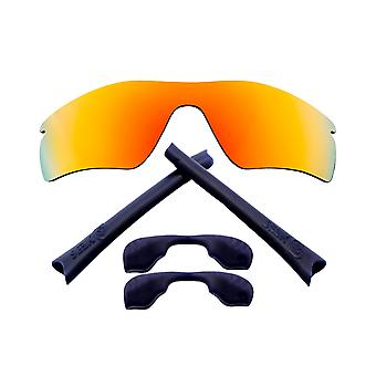 Replacement Lenses Kit for Oakley Radar Path Red Mirror Navy Blue Anti-Scratch Anti-Glare UV400 by SeekOptics