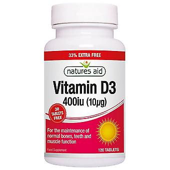 Natur's Hjelp Vitamin D3 400iu (10ug) Tabletter 120