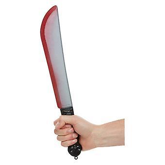Blood Macchiato Spada Halloween Accessorio Falso Arma