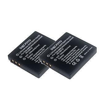 2 x batería Panasonic CGA-S008, CGA-S008E DMW-BCE10 Dot.Foto - Panasonic Lumix DMC-FS20, DMC-FS3, DMC-FS5 / DMC-FX30, DMC-FX33, DMC-FX35, DMC-FX36, DMC-FX37, DMC-FX38, DMC-FX500, DMC-FX520, DMC-FX55