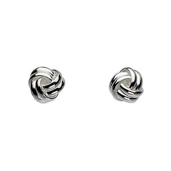 Dew Sterling Silver Rounded Knot Stud Earrings 48236HP014