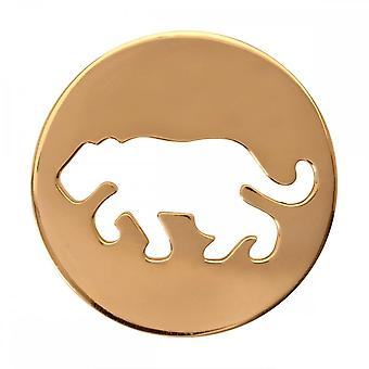 Nikki Lissoni Crouching Tiger Medium Gold Plated Coin C1082GM