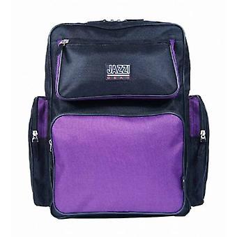 Jazzi Bags Medium Everyday School Work Backpack Rucksack -  Black/Purple