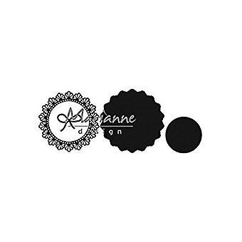 Marianne Design likt Craftables hyssing sirkel dø, metall, grå, 18 x 14,8 x 0,2 cm