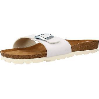 Gelbe Sandalen London Farbe Weiß