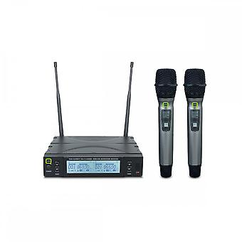 Q-ακουστικός Q-ακουστικός Qwm1960hh διπλός UHF φορητό σύστημα-Ch70