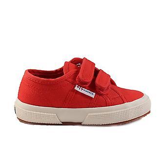 Superga COTJ Strap Canvas Classic Riptape Red Unisex Shoes