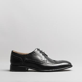 Anatomic & Co. Fernando Mens Leather Brogue Shoes Black