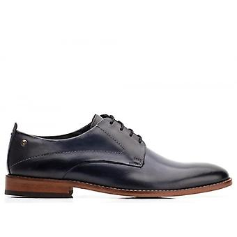 Base London script menns Leather Derby sko Navy